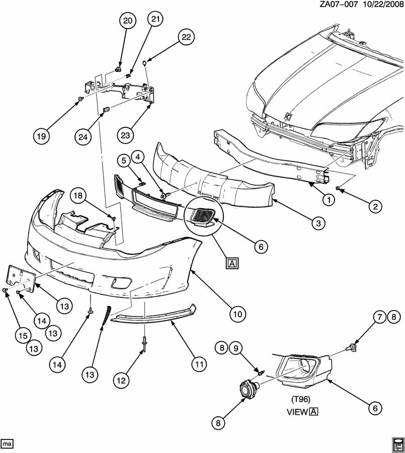 2007 chevy 2 2 engine diagram