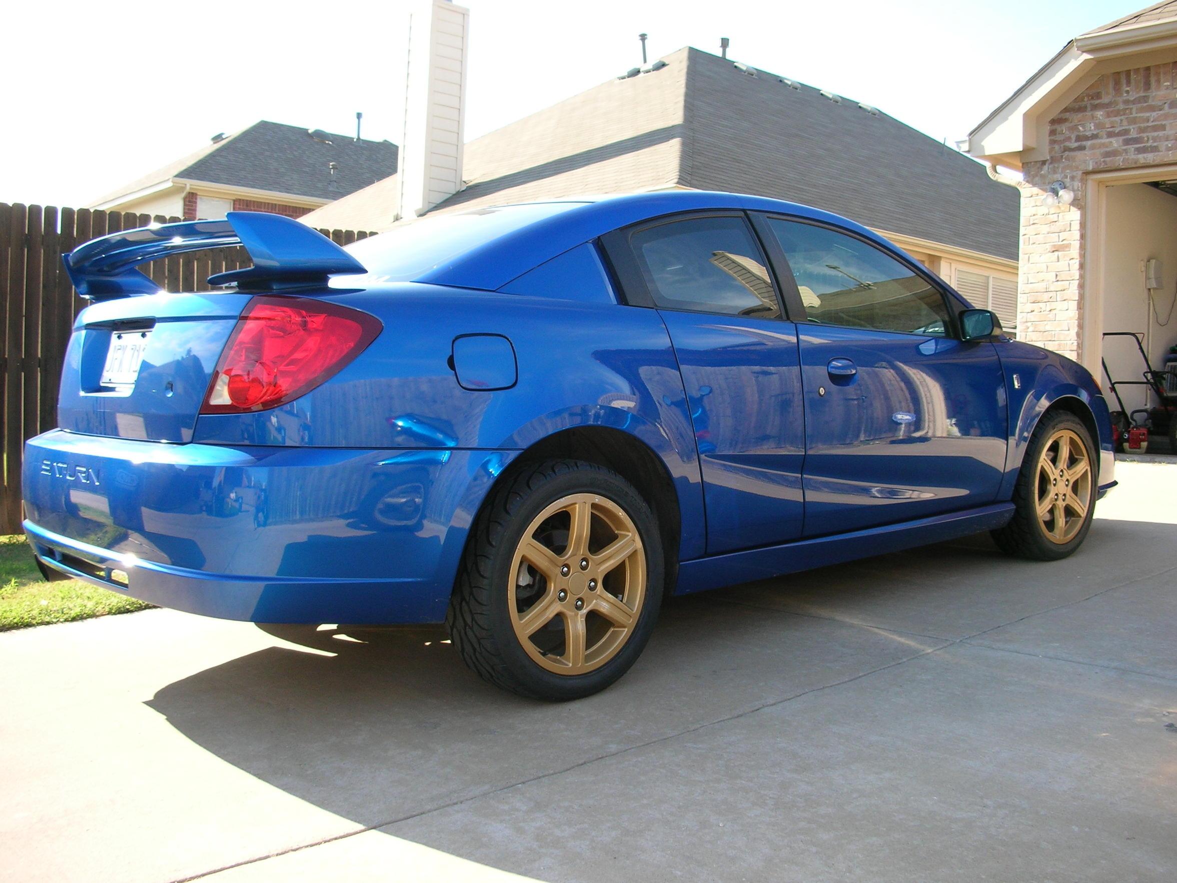 for sale 04 RL blue / gold wheels - Saturn ION RedLine Forums