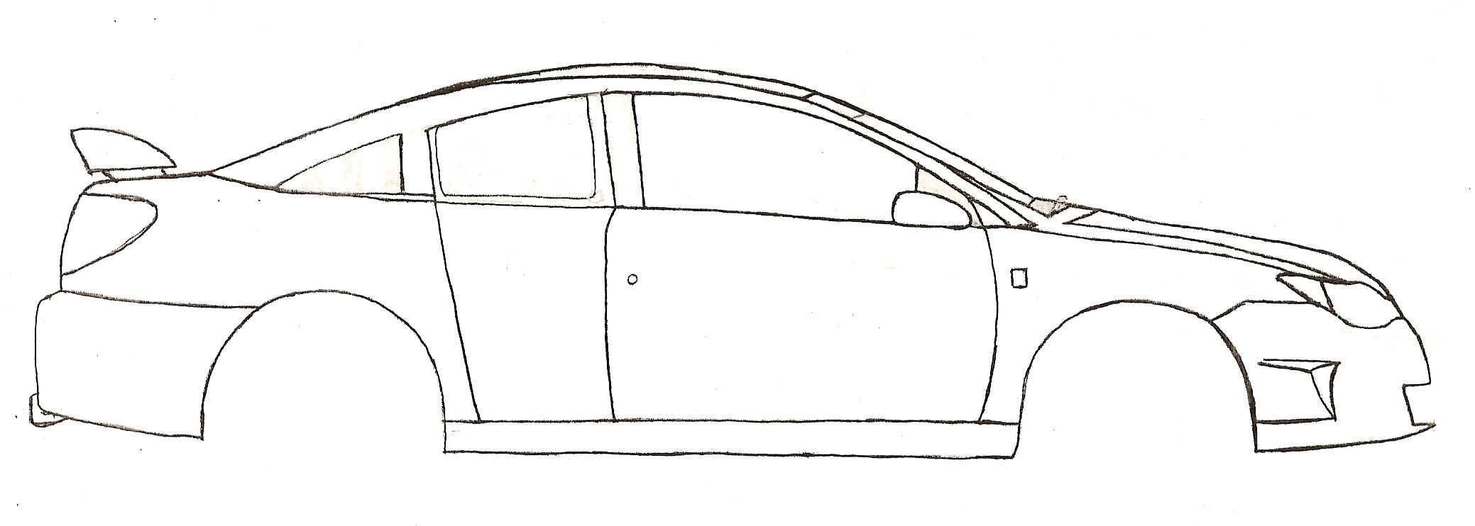 Car Coloring Pages Side View : Muscle car drawings side view sketch coloring page