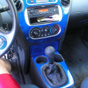 Blue CF Dash kit